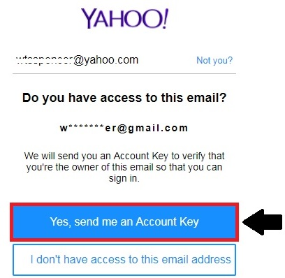 link of reset yahoo password
