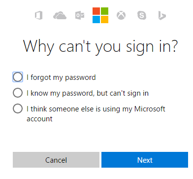 MSN Forgot Password