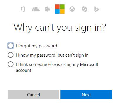 MSN Forgot Password