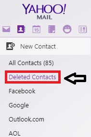 yahoo deleted contacts
