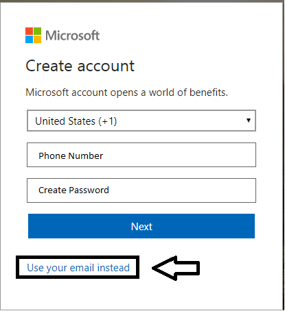 hotmail form
