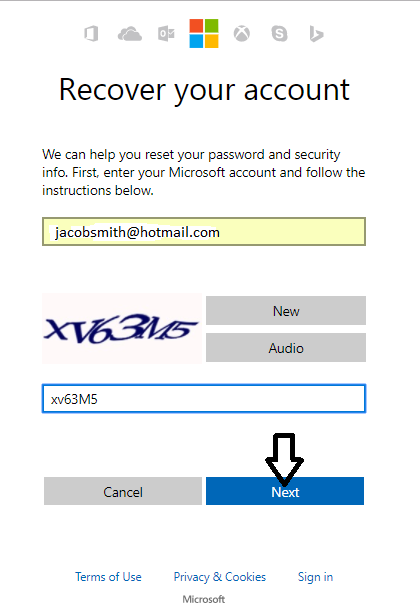 how to change password on hotmail com