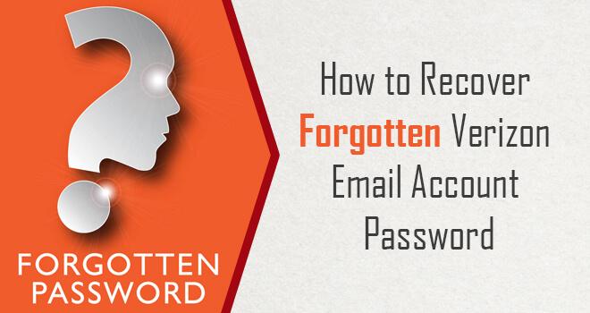 Recover Forgotten Verizon Email Account Password