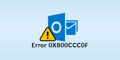 outlook error 0x800ccc0f