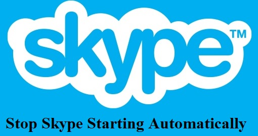 stop Skype automatically