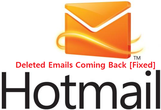 Hotmail deleted email coming back