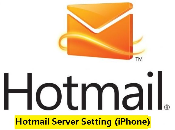 hotmail server setting iphone