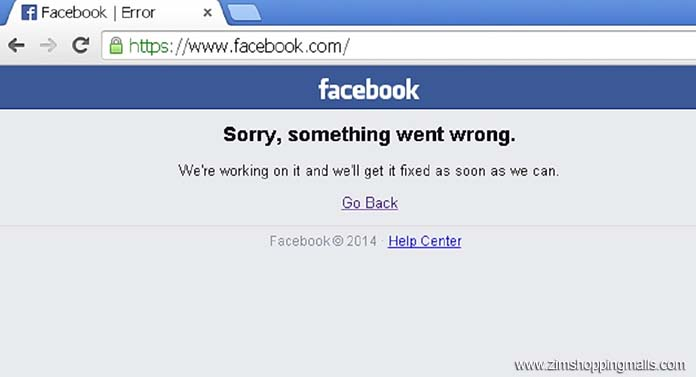 FB Error something went wrong