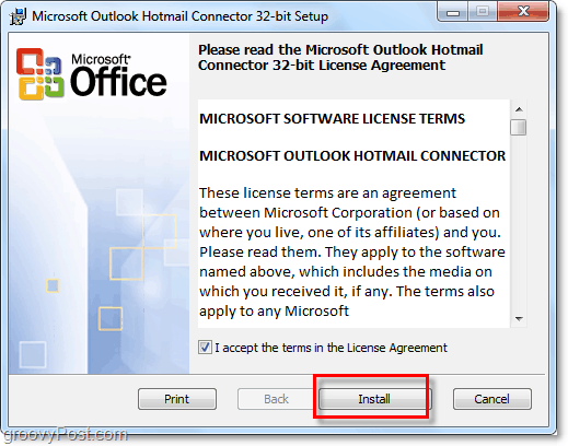 Outlook Hotmail connector